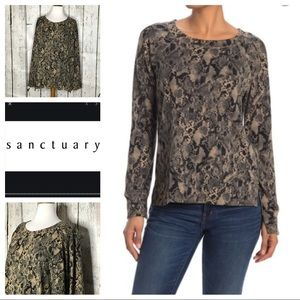 Sanctuary Snake print Pullover sweater